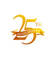 25 ribbon anniversary logo design template vector image