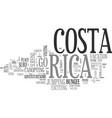 adventuresome costa rica text word cloud concept vector image vector image