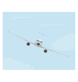 airplane in sky vector image vector image