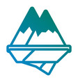 alps mountains icon vector image