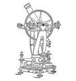 altazimuth theodolite vintage vector image
