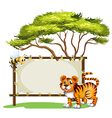 An empty signage with animals vector image vector image