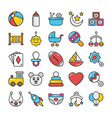 baand kids colored icons 1 vector image