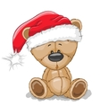 Bear in a Santa hat vector image vector image