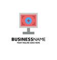 brand branding design print business logo vector image