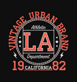 california vintage urban brand graphic for t-shirt vector image vector image