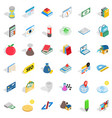 chemistry education icons set isometric style vector image vector image