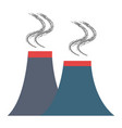 Chimney factory isolated icon