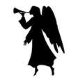 christmas angel silhouette