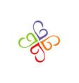 circle love abstract swirl logo vector image vector image