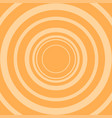 circle on orange background background vector image vector image