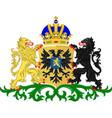 coat of arms of nijmegen of gelderland netherlands vector image vector image