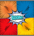 comic book page dynamic template vector image vector image