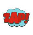 comic boom zap icon flat style vector image vector image
