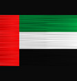 concept flag united arab emirates red green vector image