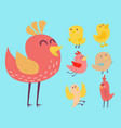 cute birds set cartoon vector image vector image