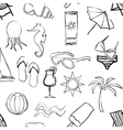 doodle beach seamless pattern vector image vector image