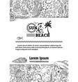 doodles background of ocean life vector image vector image