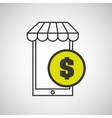 e-commerce market store money vector image