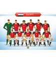 egypt national football team for international vector image