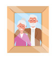 elderly couple avatar photo frame vector image
