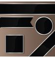 Elegant Black-Silver Ribbon Badges Set vector image