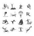Extreme Sports Icons Sketch vector image vector image