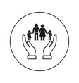 family icon silhouette flat vector image vector image
