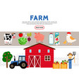 flat farming icons collection vector image vector image
