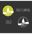 Forest Camping wilderness adventure badge graphic vector image vector image