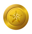 gold medal with star vector image vector image