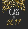 graduation class 2017 party invitations vector image