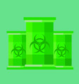 green barrels with toxic waste vector image