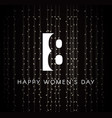 greeting card for world international womens day vector image