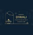 happy diwali festival a greeting card design vector image vector image