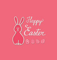 happy easter greeting card spring holiday vector image vector image