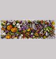 happy halloween hand drawn cartoon doodles vector image vector image