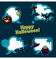 Happy halloween speech bubbles with stickers vector image vector image