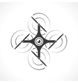 icon drone vector image