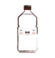 kawaii water bottle in brown blurred silhouette vector image vector image