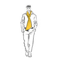 male model runway walk vector image