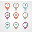 mapping pins icon vector image