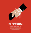 Plectrum In Hand vector image