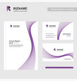 professional brochure design and company cards vector image