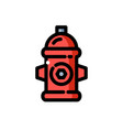 red fire hydrant vector image vector image