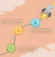 Rocket Soar Info Graphic Presentation vector image