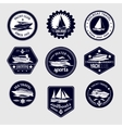 Sailboats travel labels icons set vector image vector image