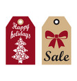 sale happy holidays advertisement ready use labels vector image