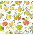 seamless pattern with cute pears scandinavian vector image vector image