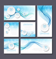 set templates for print or web design vector image